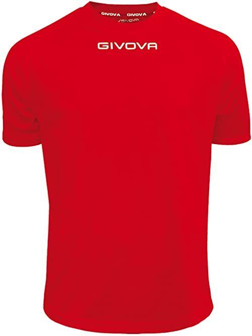 Givova - MAC01 koszulka sportowa, czerwona, L