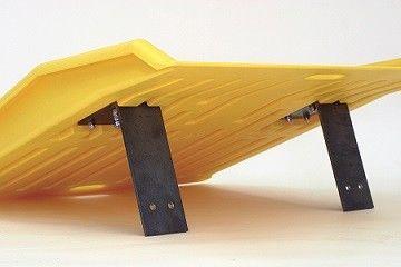 Rampa najazdowa, polietylenowa (HDPE), z aluminiowymi podporami, (szer. 89 cm)
