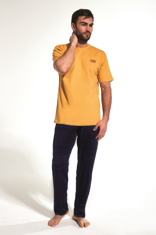 Bawełniana piżama męska Cornette 134/167 Explore żółta