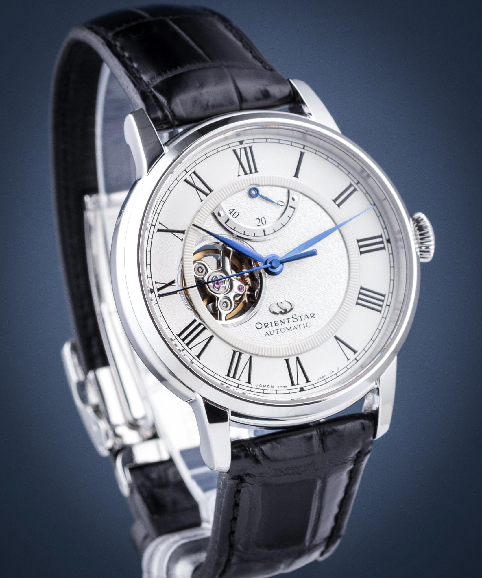 Zegarek Orient Star RE-HH0001S00B Classic Open Heart - CENA DO NEGOCJACJI - DOSTAWA DHL GRATIS, KUPUJ BEZ RYZYKA - 100 dni na zwrot, możliwość wygrawerowania dowolnego tekstu.