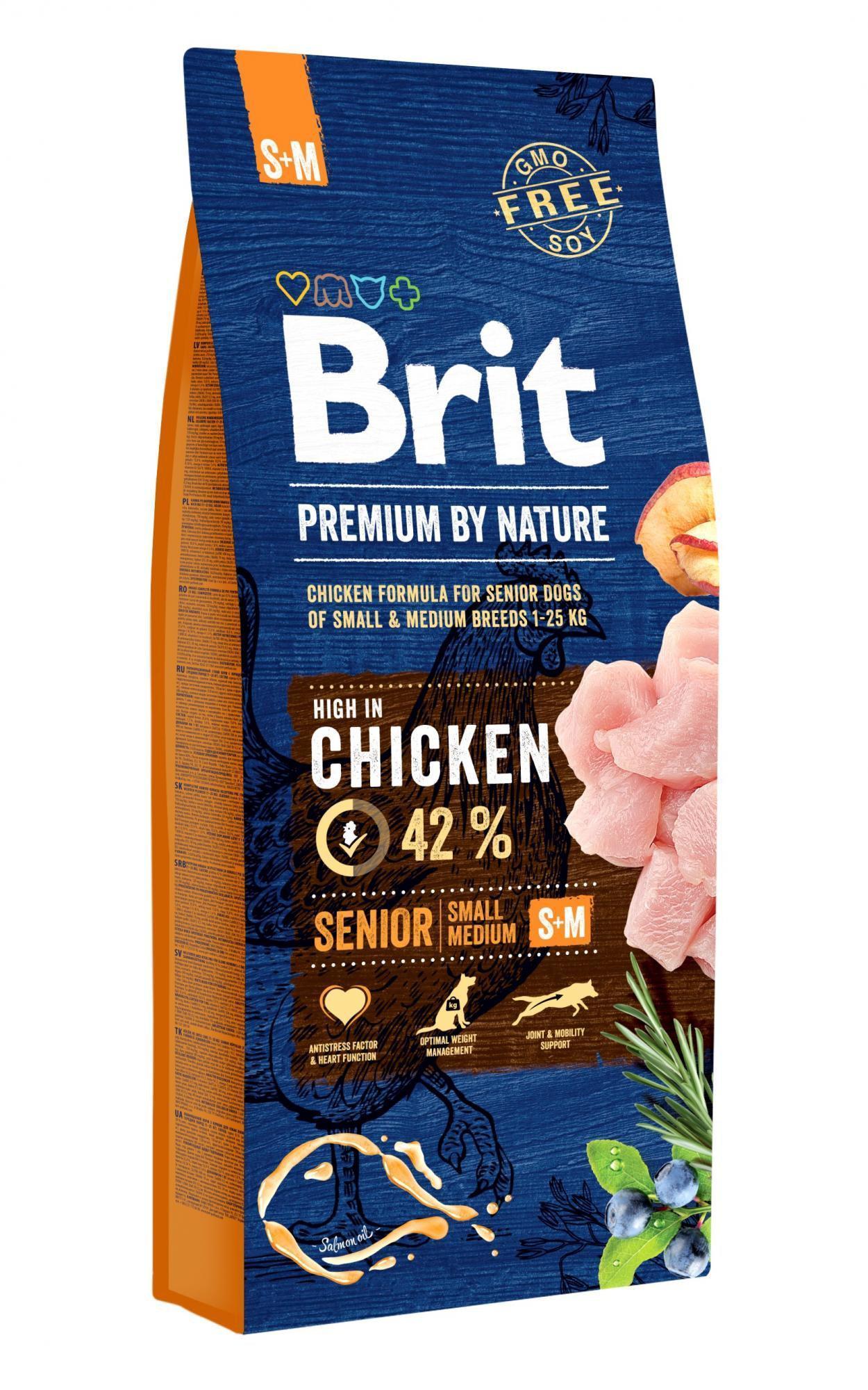 BRIT dog Premium By Nature SENIOR S+M