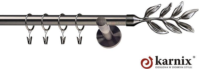 Karnisze nowoczesne NEO pojedynczy 19mm Aldis antracyt