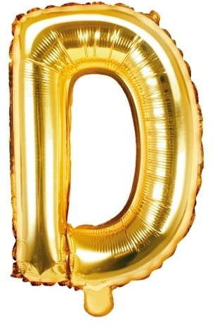Balon foliowy w kształcie litery D, złoty