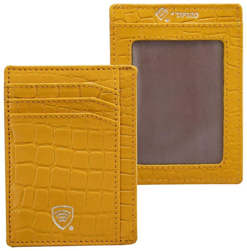 Koruma Etui na karty RFID (żółty, croco)