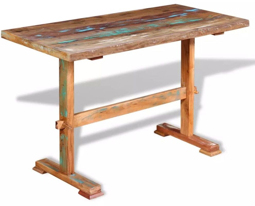 Wielokolorowy stół z litego drewna z odzysku  Tracy