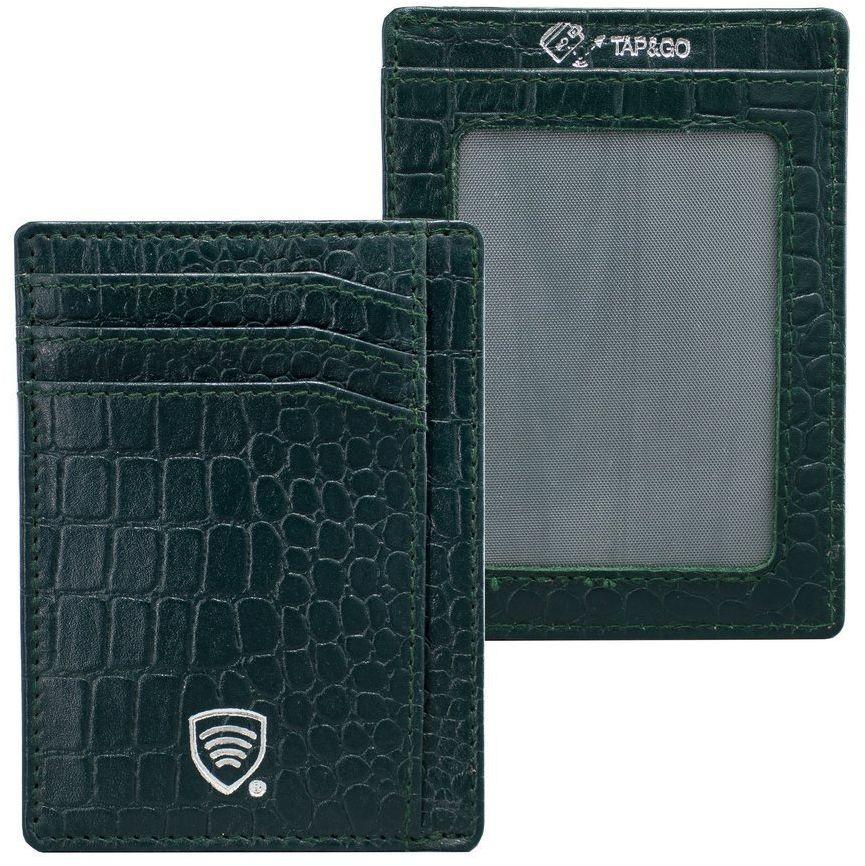 Koruma Etui na karty RFID (zielony, croco)