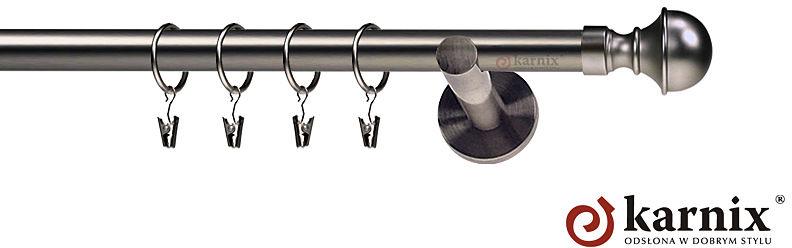 Karnisze nowoczesne NEO pojedynczy 19mm Bella antracyt
