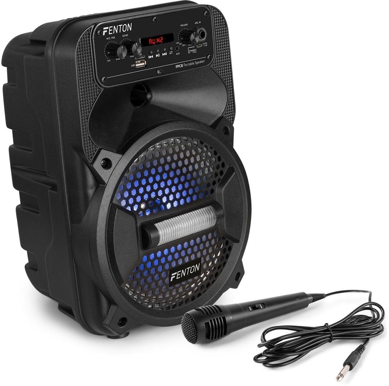 Fenton FPC8, kolumimprezowa, Bluetooth, USB/SD/AUX, LED, pilot zdalnego sterowania