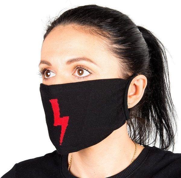 Maseczka bawełniana na twarz Piorun czarna 1 szt 608885