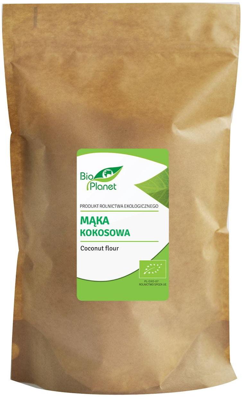 Mąka kokosowa bio 600 g - bio planet