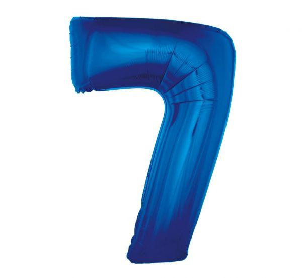 Balon foliowy 7 niebieski 92cm 1szt FG-C85N7