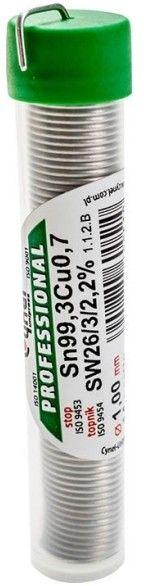 Spoiwo lutownicze bezołowiowe Cynel 1,0 mm fiolka 14 g