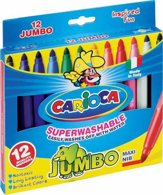 Flamastry JUMBO 12 kolorów CARIOCA - X00570