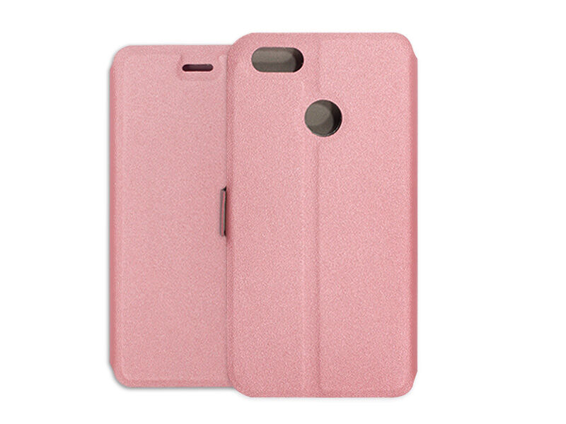 Huawei P9 Lite Mini - etui na telefon Wallet Book - różowy