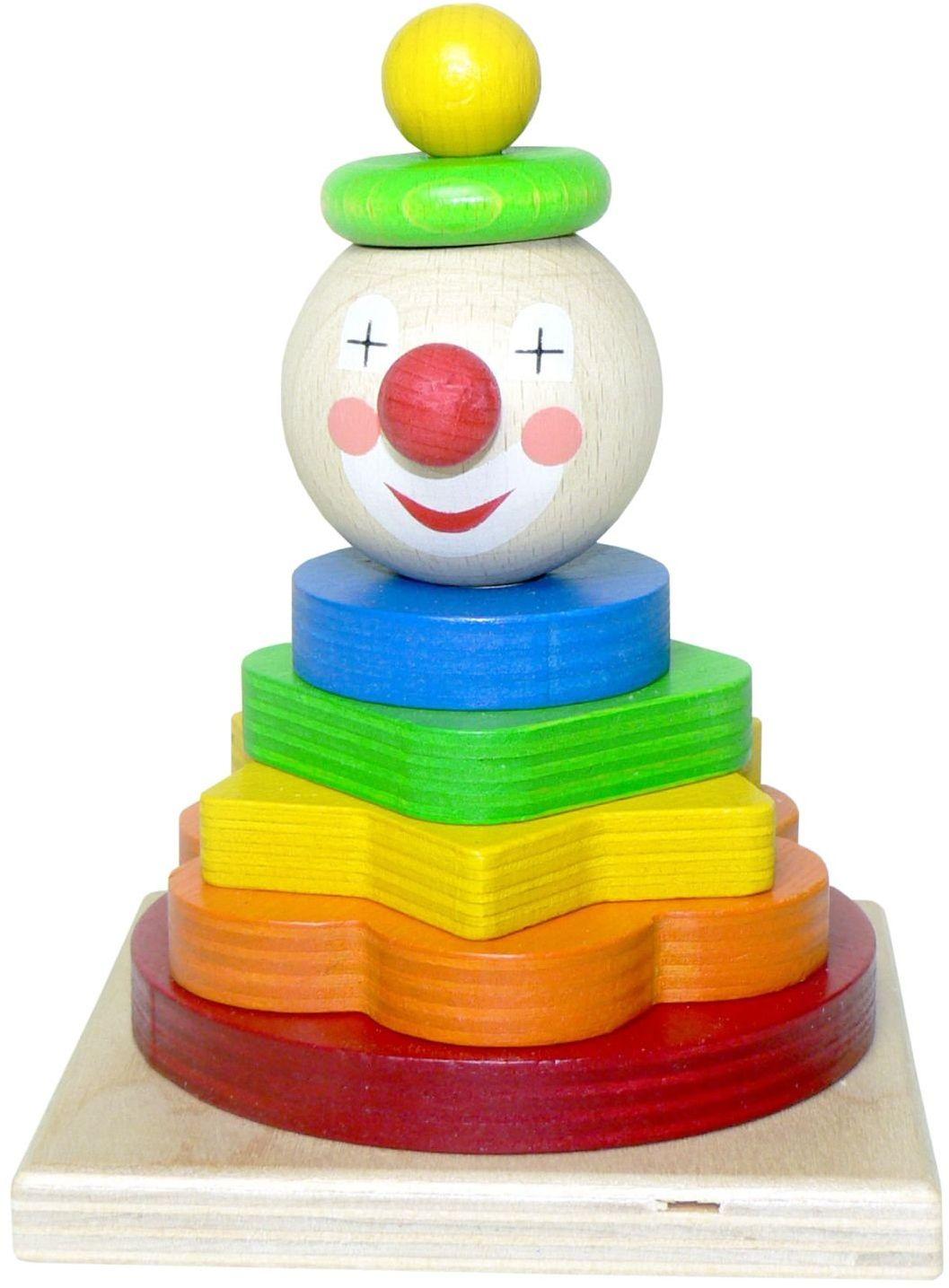 Hess 14855  wieża clown z drewna, ok. 12,5 x 9 x 9 cm