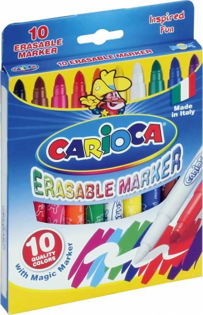 Flamastry MAGIC LASER 10 kolorów CARIOCA - X00579
