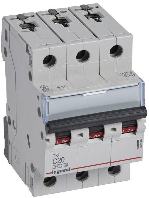 Wyłącznik nadprądowy 3P C 20A 6kA AC S303 TX3 403546