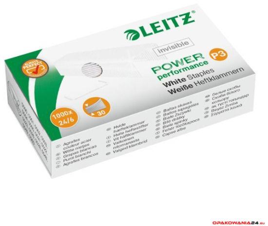 Zszywki Leitz białe, niewidoczne na papierze 24/6, 1000 szt., 55540000