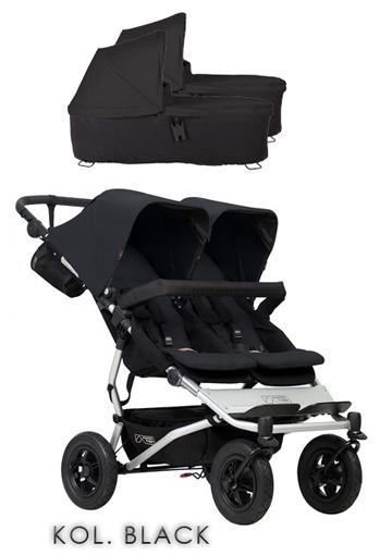 Mountain Buggy Duet 3+gondole+foteliki (do wyboru)+GRATIS - Black