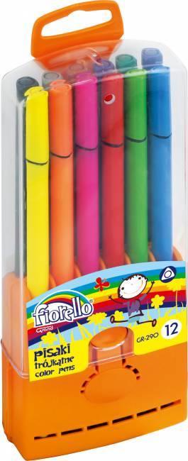 Flamastry trójkątne FIORELLO 12 kolorów - X00585