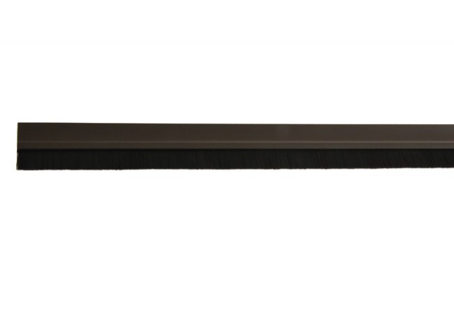 Listwa uszczelniająca ze szczotką 14 mm samoprzylepna brązowa PCV 1mb