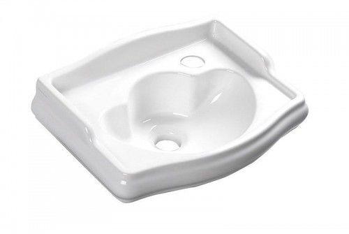 Mała umywalka ceramiczna RETRO 41x30 cm bez przelewu