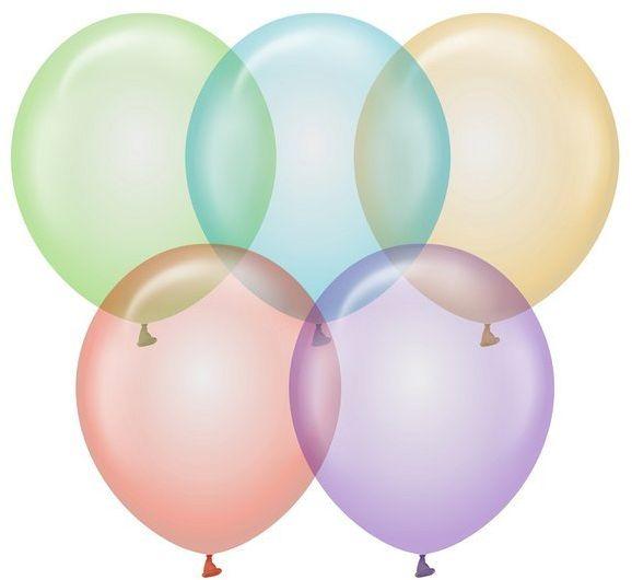 Balony przezroczyste Beauty&Charm mix kolorów 30cm 10 sztuk CB-1CMX