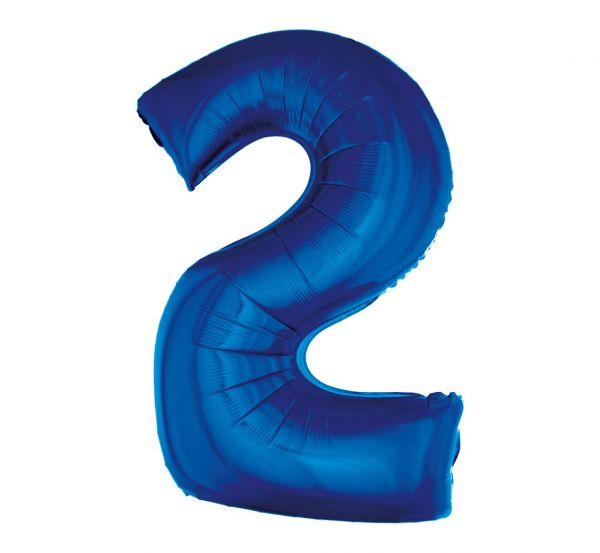 Balon foliowy 2 niebieski 92cm 1szt FG-C85N2