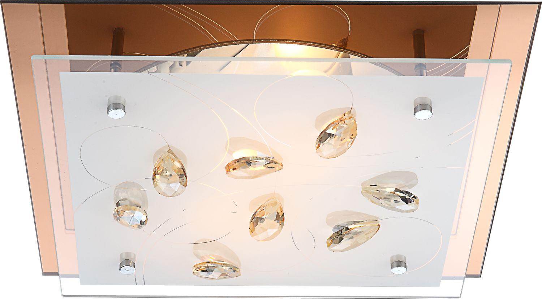 Globo plafon lampa sufitowa Ayana 40412-2 szkło kryształy 33,5cm