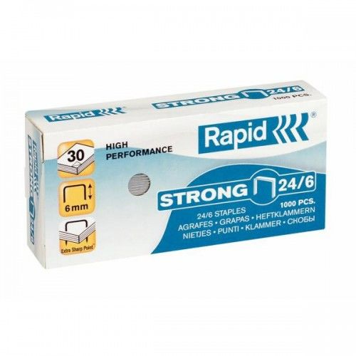 Zszywki RAPID Strong 24 / 6 1M (1000)