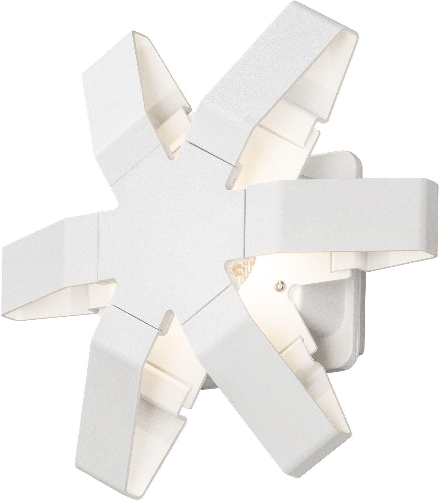 Gnosjö Konstsmide 7977-250 A lampy ścienne zewnętrzne, aluminium, białe, 10 x 25 x 23,5 cm