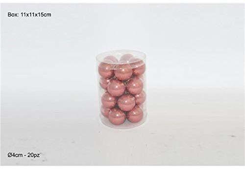 Dwa żelazo, perlaty antyczne różowe, 4 cm, 20 sztuk