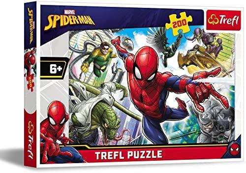 Trefl Urodzony Bohater Puzzle 200 Elementów Marvel o Wysokiej Jakości Nadruku dla Dzieci od 6 lat
