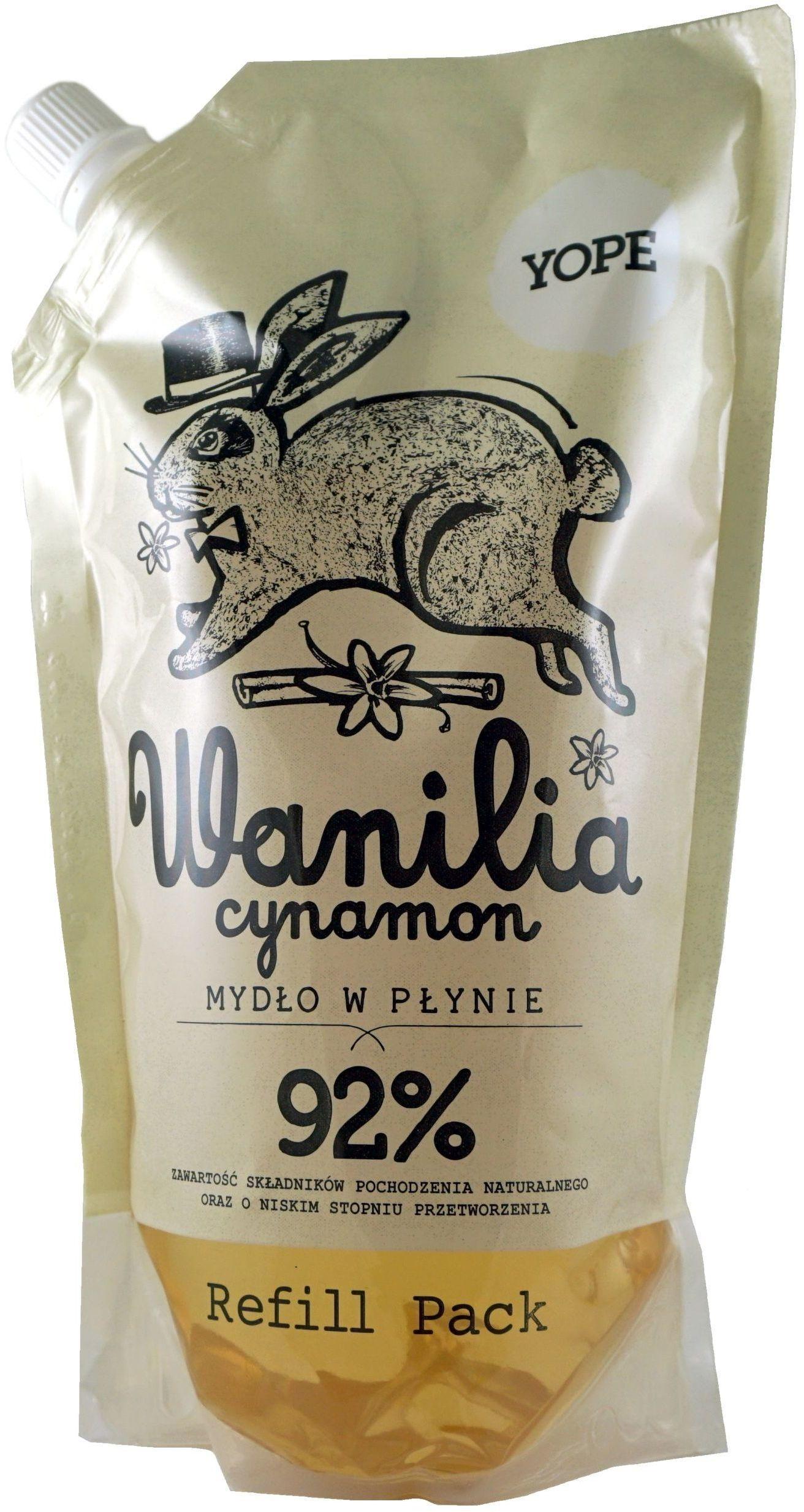 Naturalne Mydło Kosmetyczne Wanilia z Cynamonem Refill - 500ml - Yope