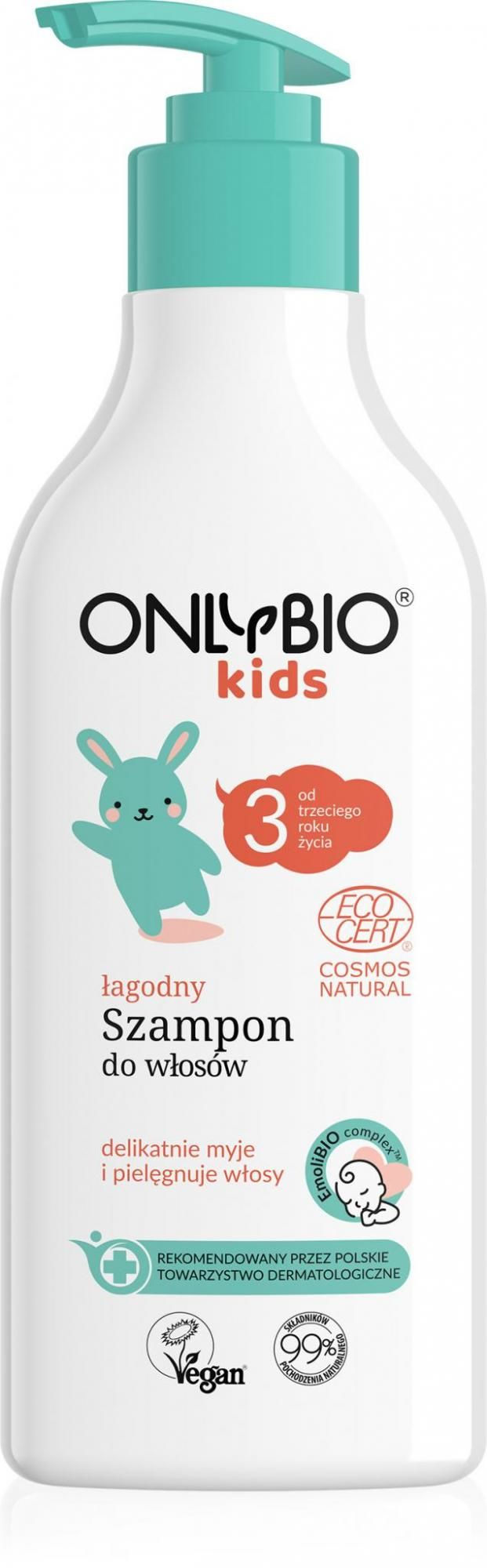 Szampon do włosów dla dzieci od 3 roku życia eco 300 ml - only bio (baby)