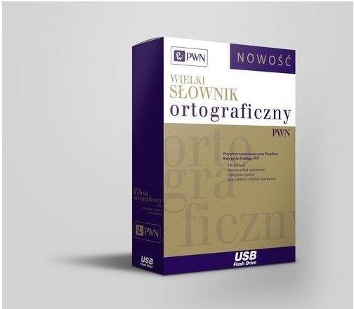 Wielki słownik ortograficzny PWN z zasadami pisowni i interpunkcji Pendrive NOWOŚĆ 2016