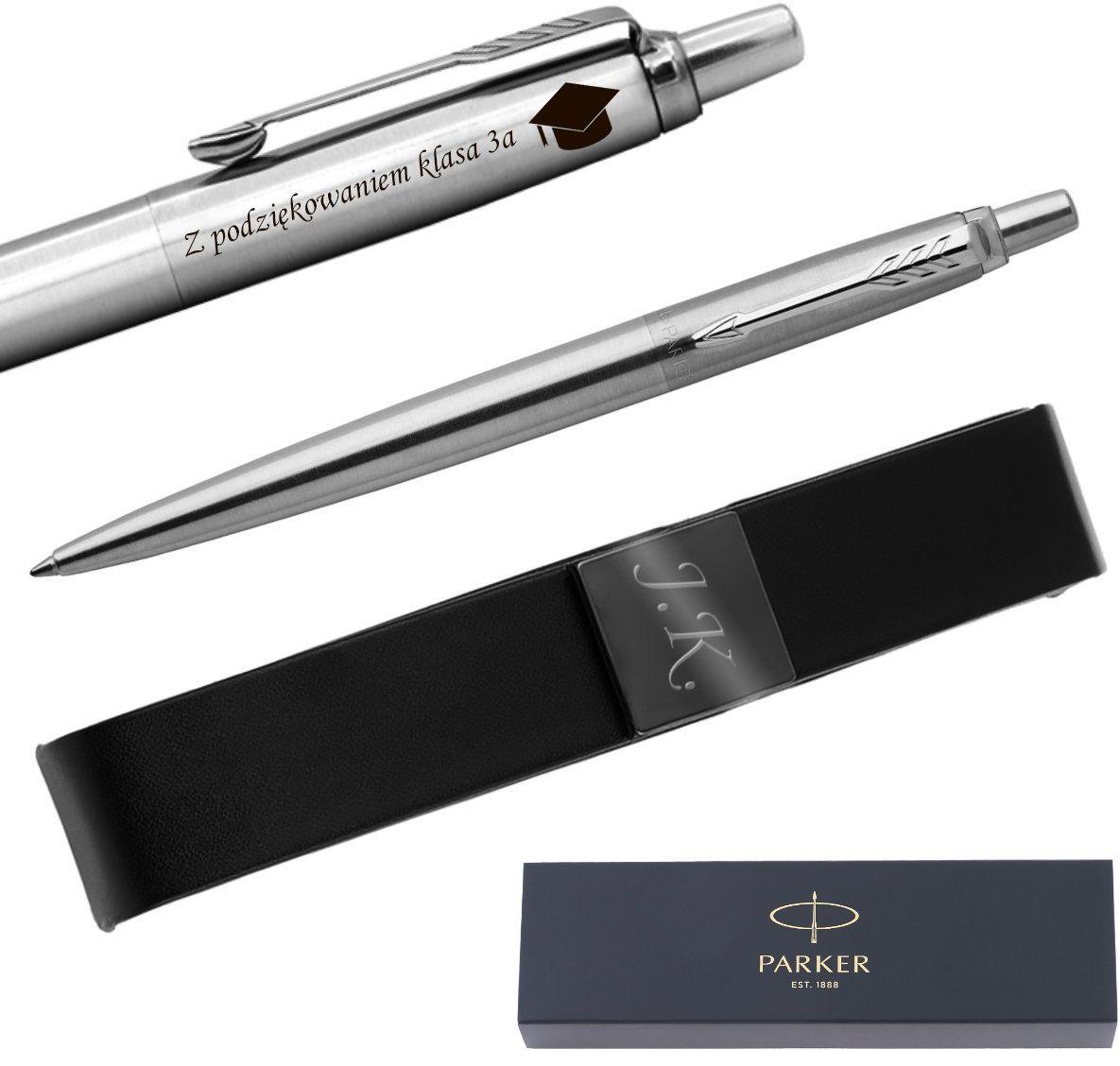 Długopis Parker Jotter stalowy CT + Etui Grawer