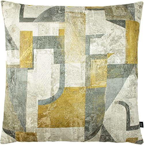 Ashley Wilde Neutra piórko poduszka wypełniona, szara, 50 x 50 cm