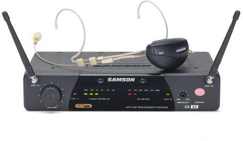 Samson AL77/AH7 HEADSET - AIRLINE zestaw bezprzewodowy z mik. nagłownym cielistym - 477,525Mhz