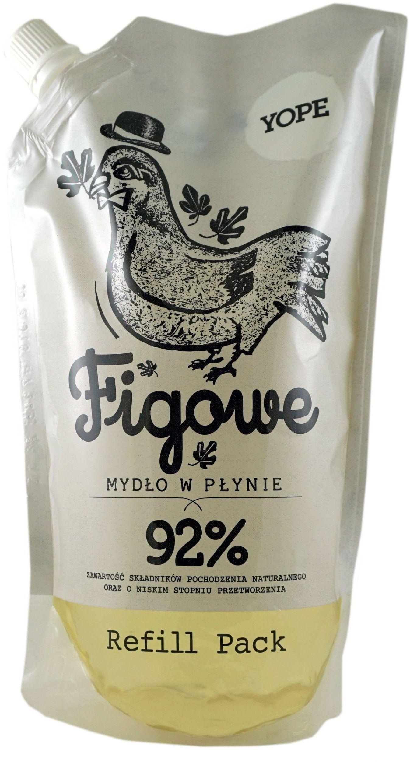 Naturalne Mydło Kosmetyczne Figowe Refill - 500ml - Yope