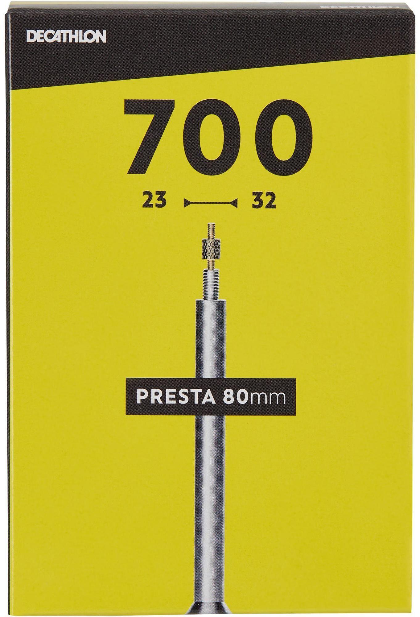 DĘTKA ROWEROWA 700x23/32 Z WENTYLEM PRESTA 80 MM