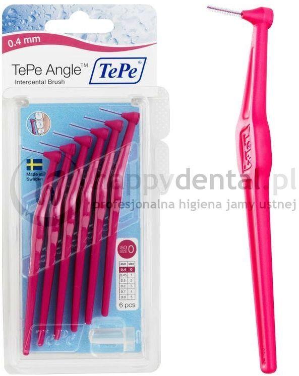 TEPE ID Angle (0.40mm) różowe 6szt. - zestaw szczoteczek międzyzębowych (szczoteczki w wersji ANGLE)