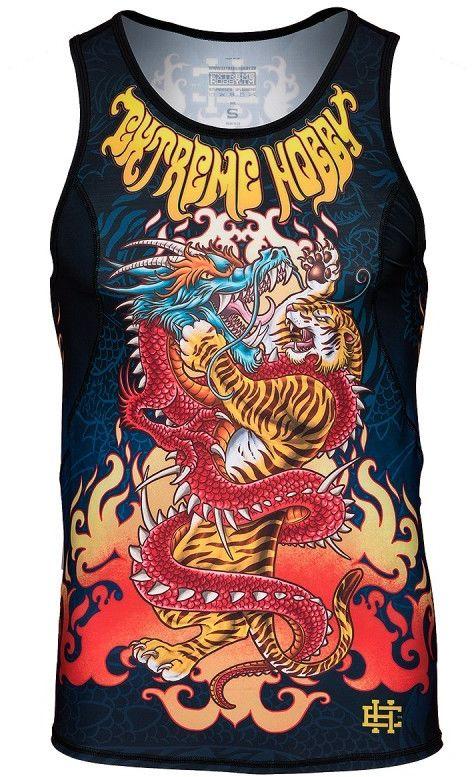 Extreme Hobby tank top rashguard Dragon vs Tiger