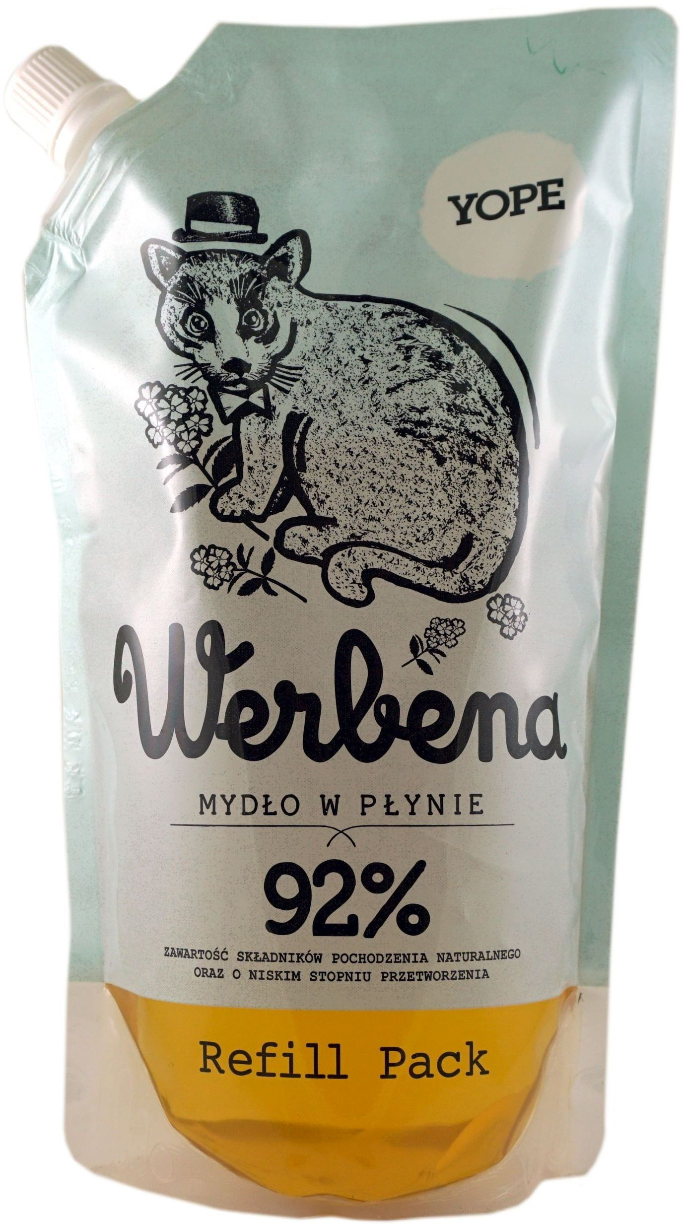Naturalne Mydło Kosmetyczne Werbena Refill - 500ml - Yope
