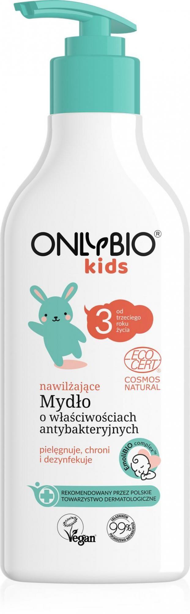 Mydło do rąk nawilżające o właściwościach antybakteryjnych dla dzieci od 3 roku życia eco 300 ml - only bio (baby)