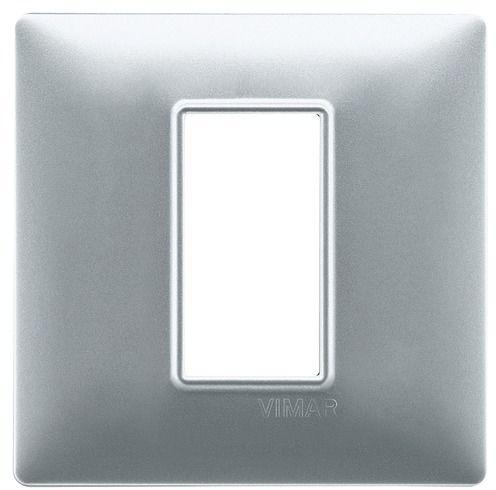 Ramka 1M srebrna matowa