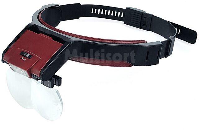 Lupa 2 okularowa nagłowna z oświetleniem LED