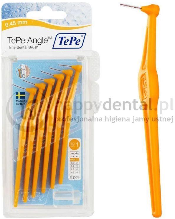 TEPE ID Angle (0.45mm) pomara. 6szt. - zestaw szczoteczek międzyzębowych (szczoteczki w wersji ANGLE)