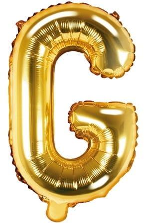 Balon foliowy w kształcie litery G, złoty