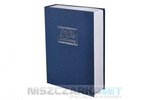 KASETKA KSIĄŻKA skrytka na pieniądze imitująca słownik - niebieska